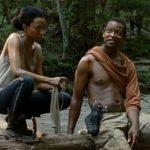 The Walking Dead – O casal, Sasha e Bob, descansa após luta contra zumbis