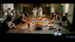 Benjamin e os irmãos são recebidos por José com um banquete