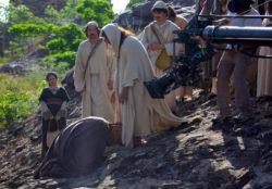 Cena de Jesus Cristo concedendo um milagre