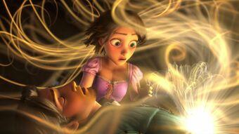 Rapunzel curando José