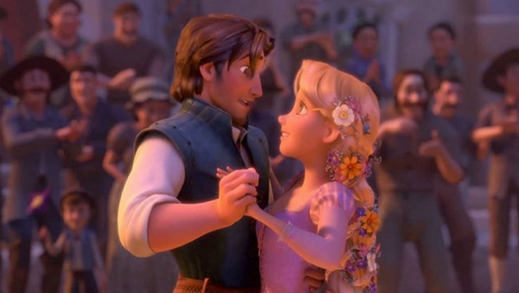 Rapunzel e José dançando
