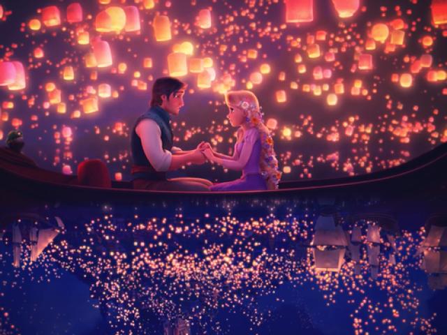 Rapunzel e José no barco