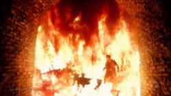 Sábios sobrevivem à fornalha ardente e o rei se espanta