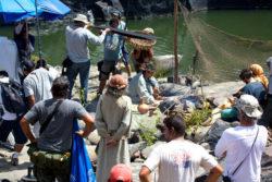 Set de gravação montado no Piauí para as gravações da minissérie