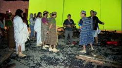 bastidores da cena fornalha do fogo ardente em O Rico e Lázaro