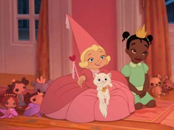 A Princesa e o Sapo-Charllote e Tiana crianças