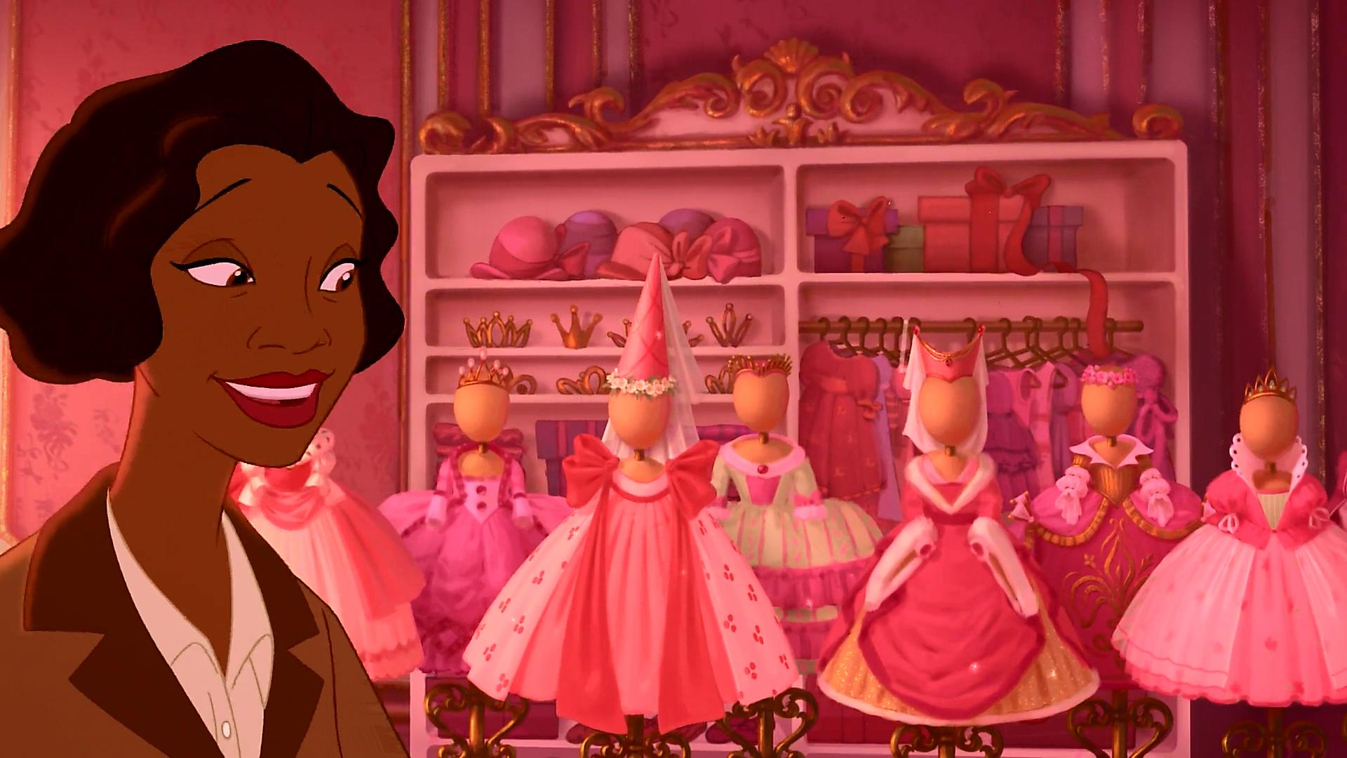 A Princesa e o Sapo-vestidos feitos para Charlotte feitos por Eudora
