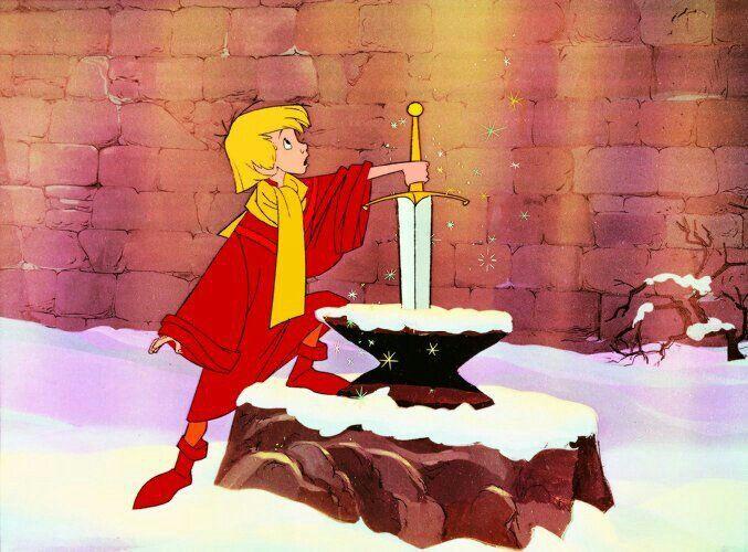 Arthur tira espada da pedra