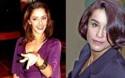 Bianca Rinaldi (à esquerda) foi comparada a Lucélia Santos, Isaura da primeira versão de 1976 (à direita)