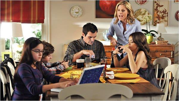 café da manhã Modern Family