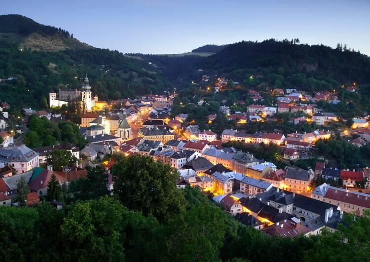 cidade de Banska Stiavnica drácula