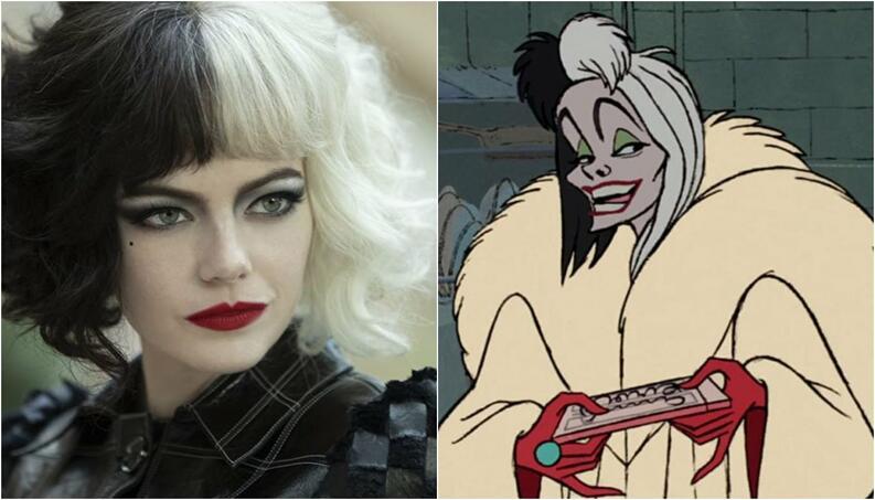 Cruella live action vs Cruella desenho