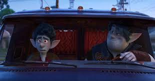 Ian e Barley no carro