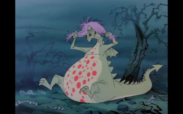 Madame Mim transforma em dragão