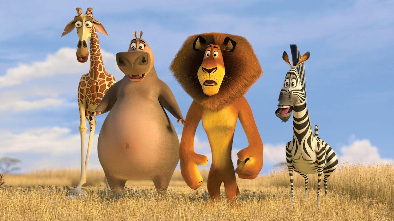 Melman,Gloria,Alex e Marty