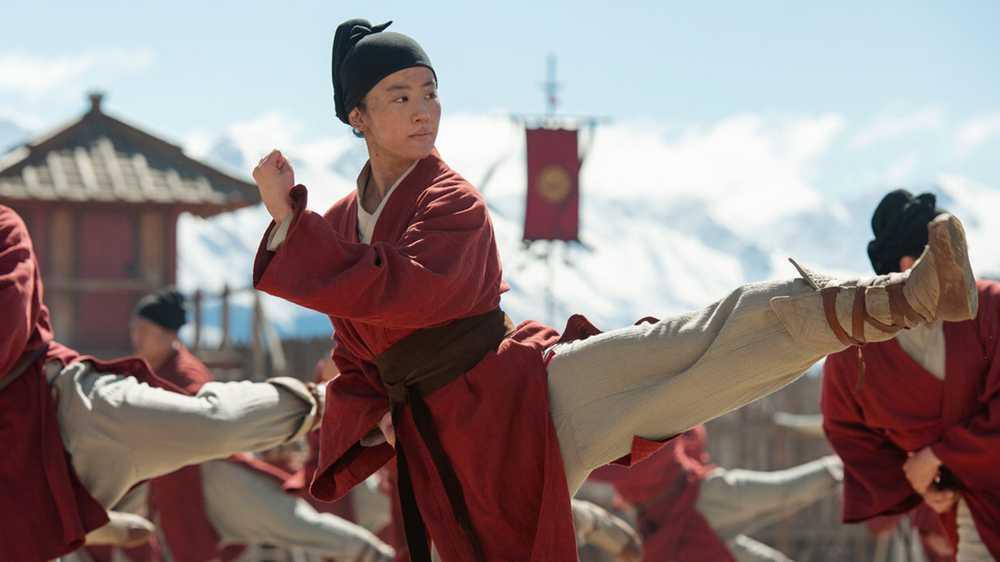 Mulan treinando
