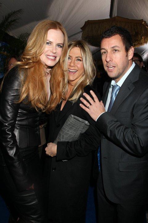 Nicole Kidman, Jennifer Aniston e Adam Sandler