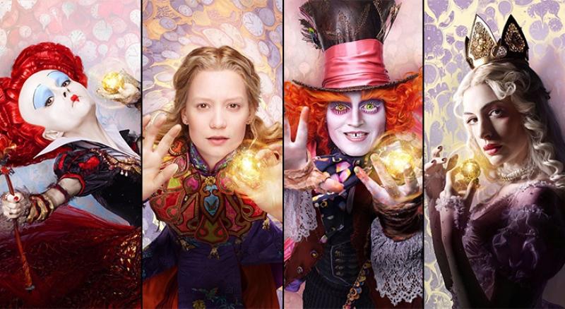 Personagens Alice através do espelho