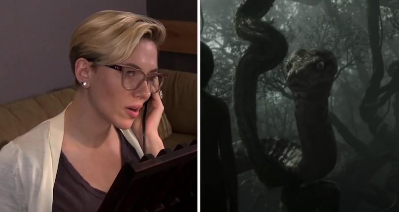 Scarlett Johansson voz de Kaa