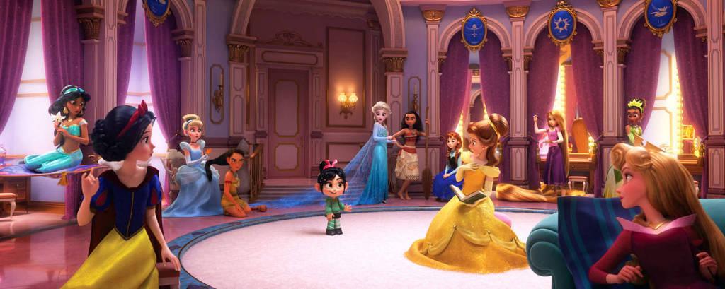 Vanellope aparece no quarto das princesas