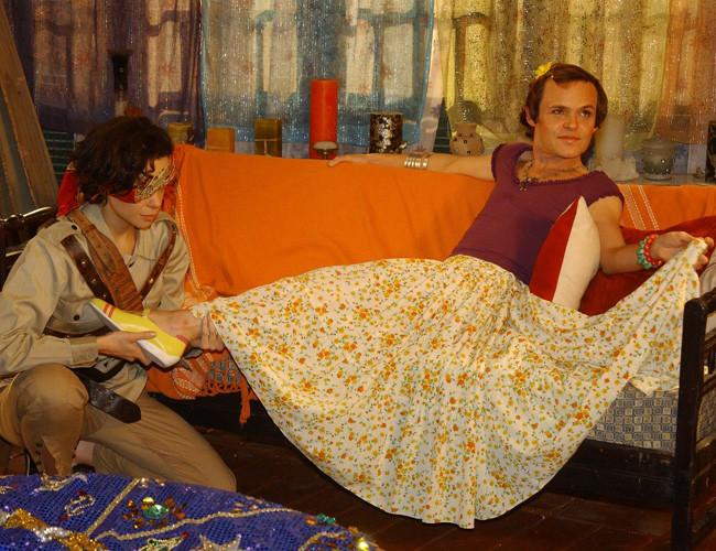 Vanessa Gerbelli e Matheus Nachtergaele na novela Da cor do pecado