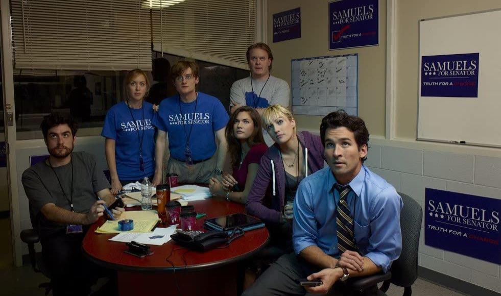 A equipe de campanha