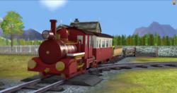 The Pontypandy Flyer locomotiva a vapor