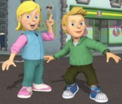 irmãos gêmeos  Sarah e James