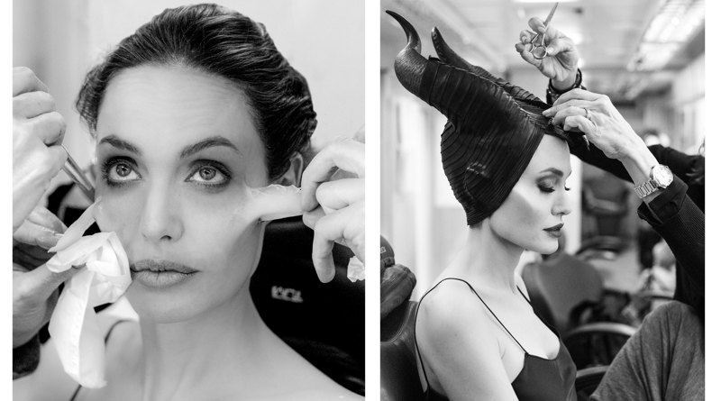 Angelina Jolie se caracterizando