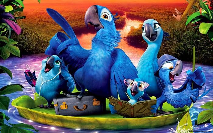 Blu com a familia