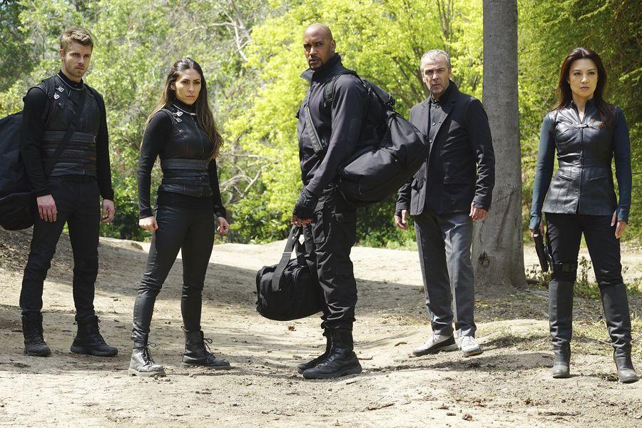 cena de agentes da shield