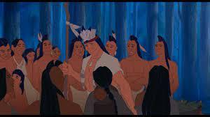 Chefe Powhatan com os indios