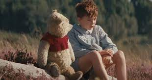 Christopher Robin criança e Pooh