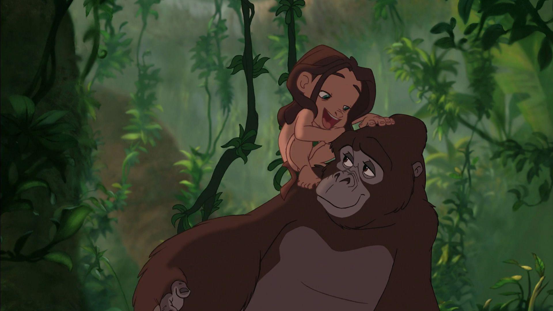 Kala e Tarzan criança