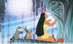 Pocahontas com Avó Willow