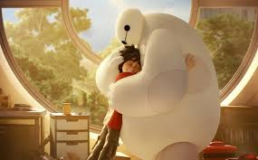 Baymax e Hiro se abraçando