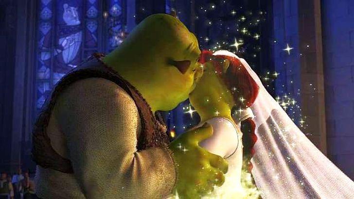 Beijo de Fiona e Shrek