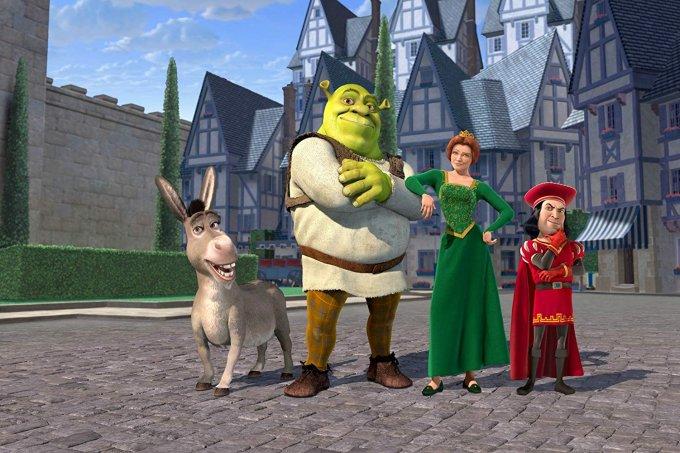 Burro,Shrek,Fiona e o Lorde