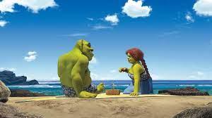 Fiona e Shrek na lua de mel