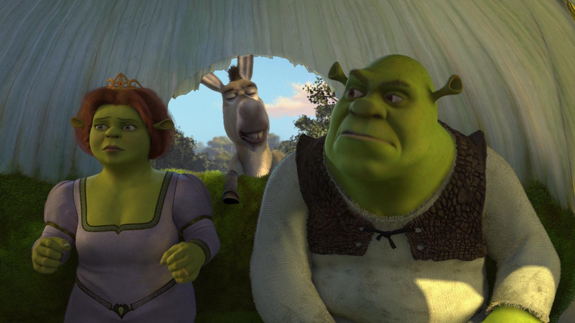 Fiona,Shrek e Burro a caminho de Tão Tão Distante