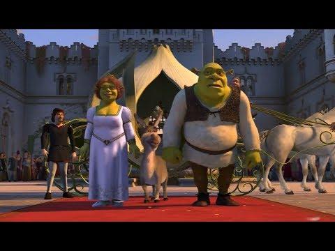 Fiona,Shrek e Burro chegam ao reino de Tão Tão Distante