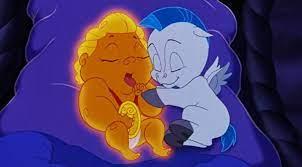 Hercules e Pegasus bebê