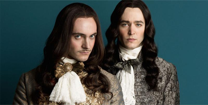 Luís XIV e seu irmão versailles