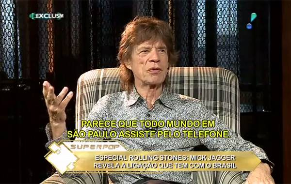 Mick Jagger no Superpop