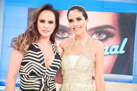 Nubia Oliver dá entrevista no programa Sensacional