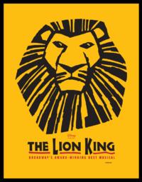 O poster oficial do O Rei Leão-Musical