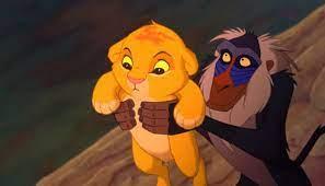 Rafiki com Simba bebê