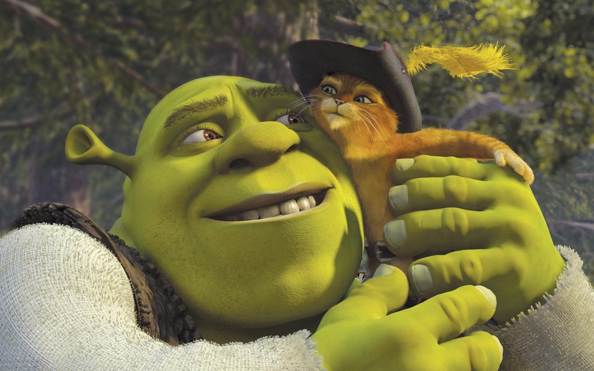 Shrek e Gato de Botas