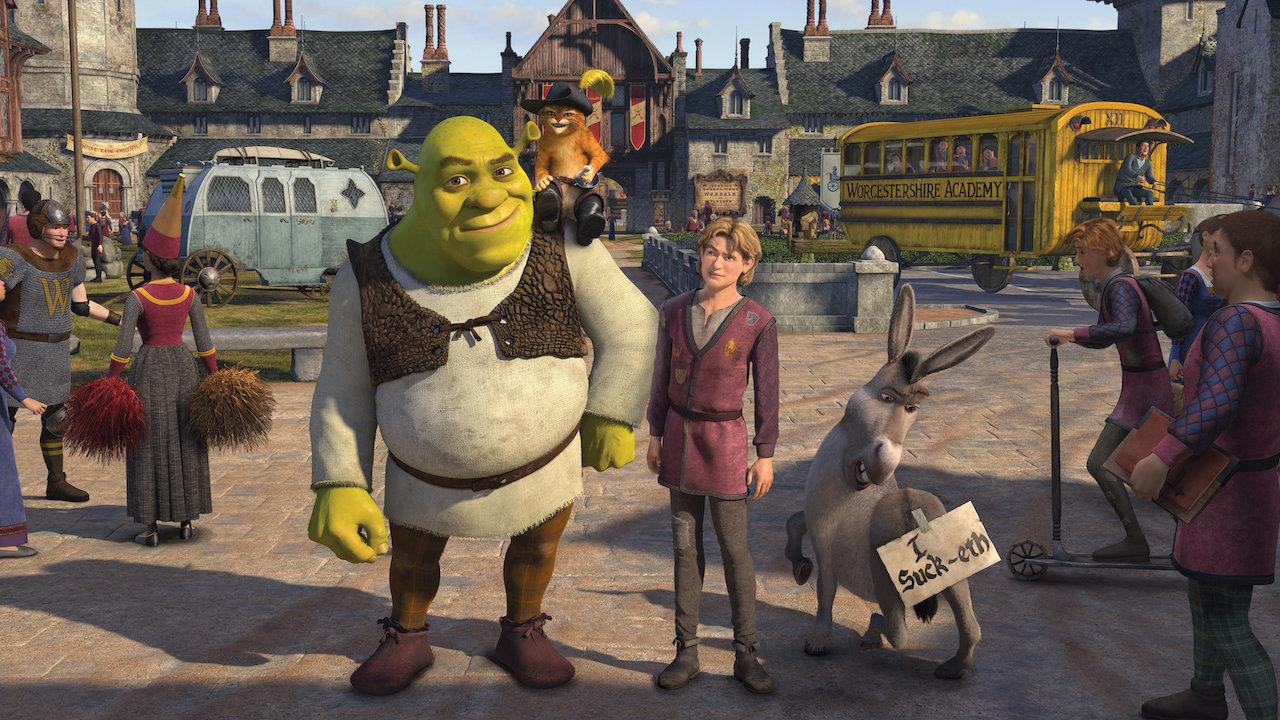 Shrek,Artie e o Burro