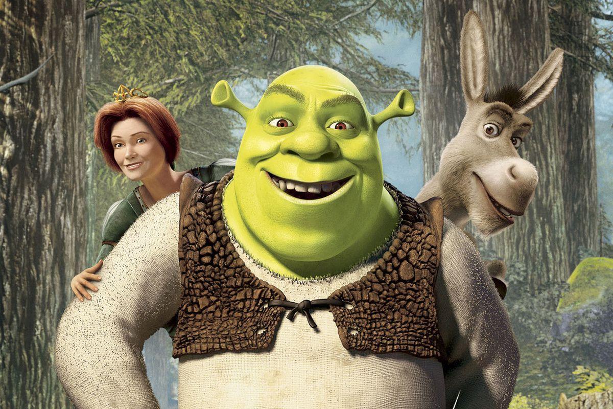Shrek,Fiona e Burro